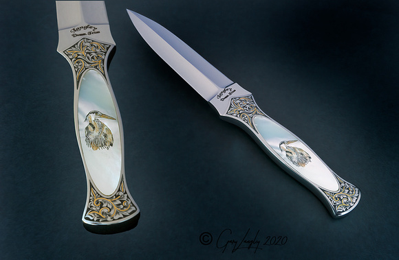 Dagger with MoP Gold engraved $2595.00